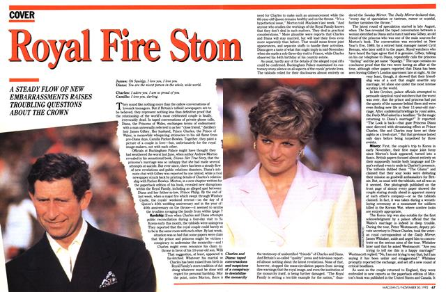 Article Preview: Royal Fire Stom, November 1992 | Maclean's