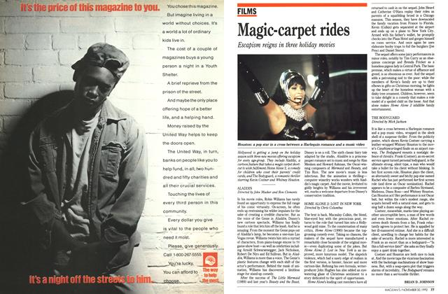 Article Preview: Magic-carpet rides, November 1992 | Maclean's