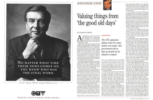 Article Preview: Valuing things from 'the good old days', November 1992 | Maclean's