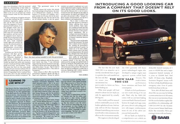 Article Preview: 'LEARNING TO LIVE WITH IT', December 1992 | Maclean's