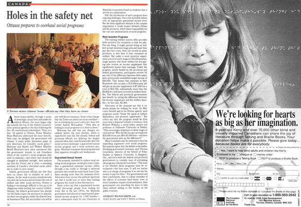 Article Preview: Holes in the safety net, December 1992 | Maclean's