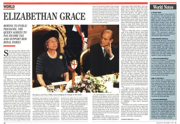 Article Preview: ELIZABETHAN GRACE, December 1992 | Maclean's