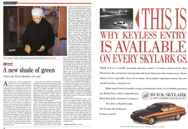 Article Preview: A new shade of green, December 1992 | Maclean's
