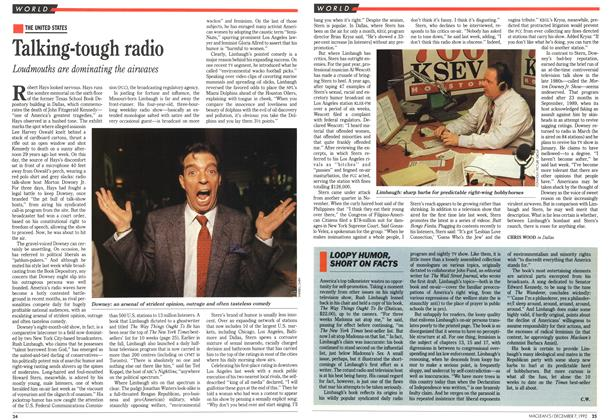 Article Preview: Talking-tough radio, December 1992 | Maclean's