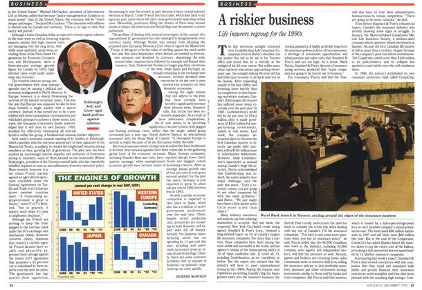 Article Preview: A riskier business, December 1992 | Maclean's