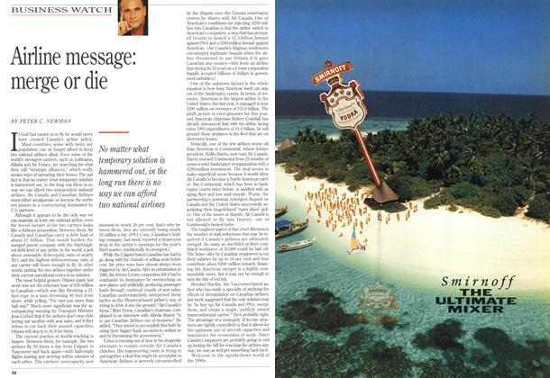 Article Preview: Airline message: merge or die, December 1992 | Maclean's
