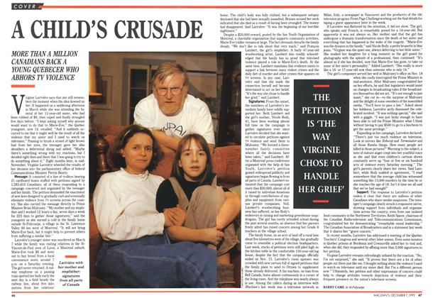 Article Preview: A CHILD'S CRUSADE, December 1992 | Maclean's