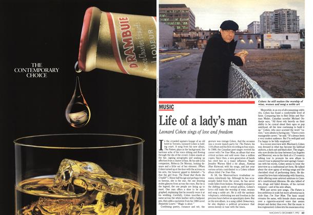 Article Preview: Life of a lady's man, December 1992 | Maclean's