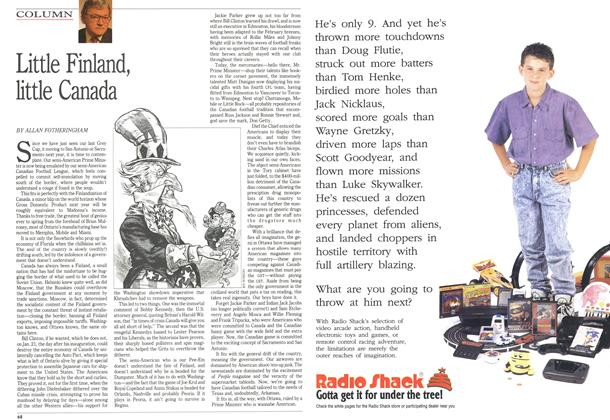 Article Preview: Little Finland, little Canada, December 1992   Maclean's