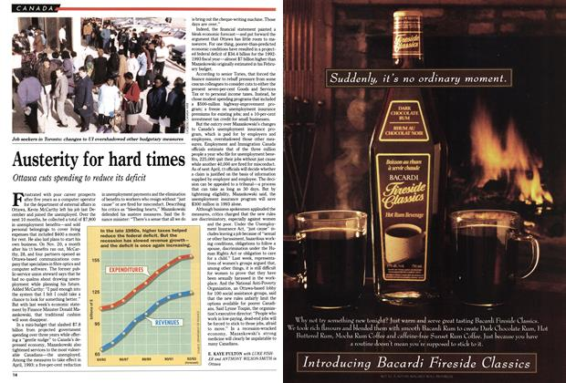 Article Preview: Austerity for hard times, December 1992 | Maclean's