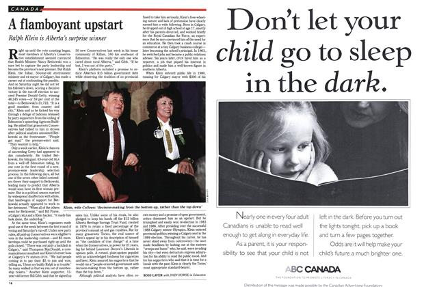 Article Preview: A flamboyant upstart, December 1992   Maclean's
