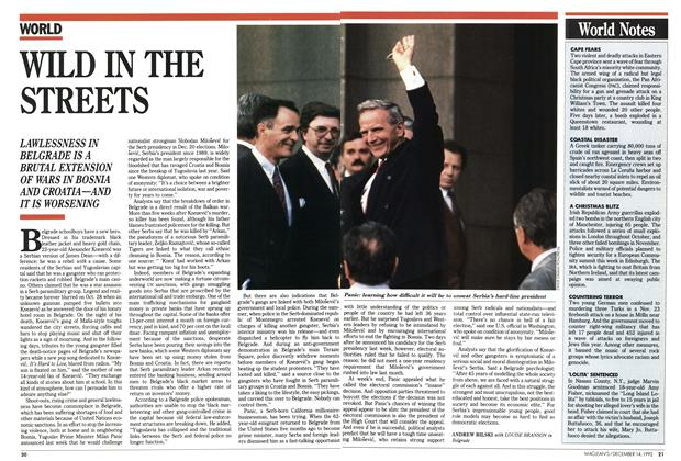 Article Preview: WILD IN THE STREETS, December 1992   Maclean's