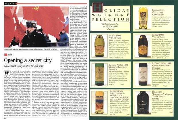 Article Preview: Opening a secret city, December 1992 | Maclean's
