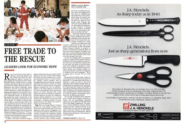 Article Preview: FREE TRADE TO THE RESCUE, December 1992 | Maclean's