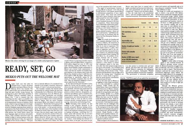 Article Preview: READY, SET, GO, December 1992 | Maclean's