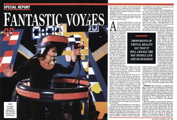Article Preview: FANTASTIC VOYAGES, December 1992 | Maclean's