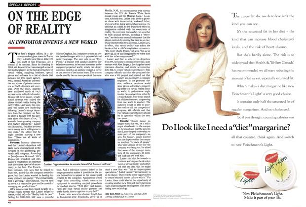 Article Preview: ON THE EDGE OF REALITY, December 1992 | Maclean's