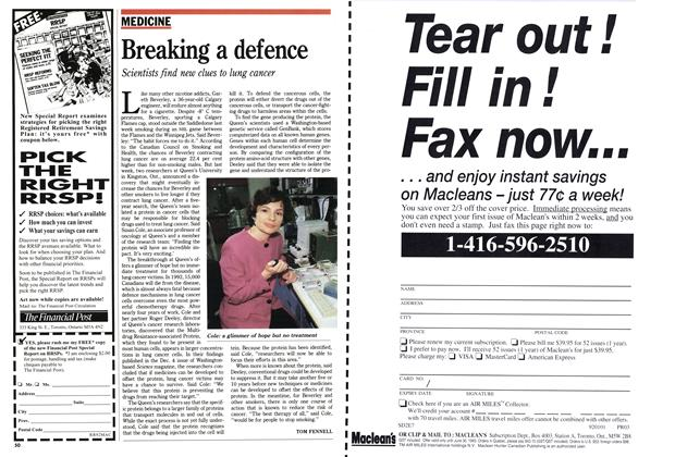 Article Preview: Breaking a defence, December 1992 | Maclean's