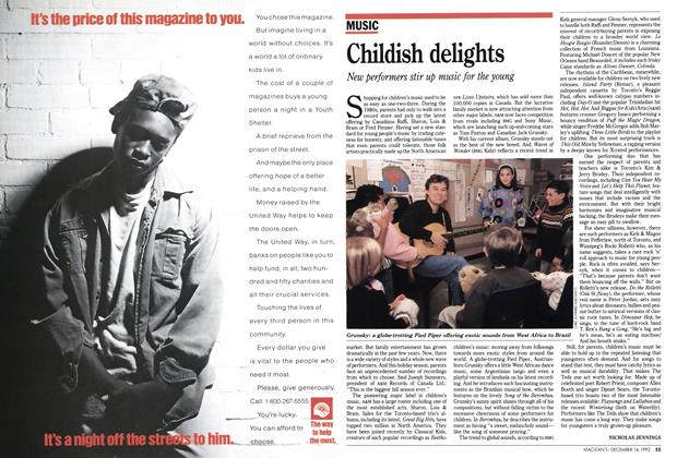 Article Preview: Childish delights, December 1992 | Maclean's