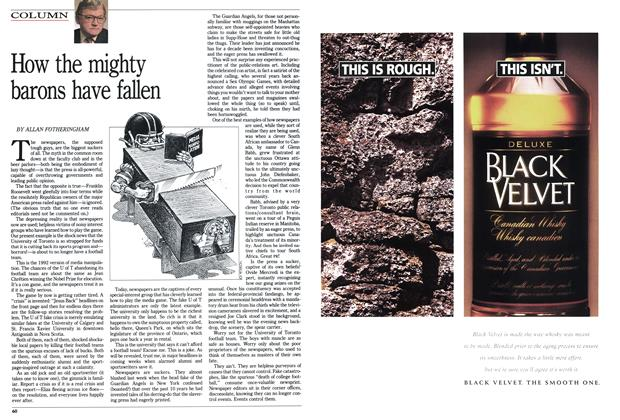 Article Preview: How the mighty barons have fallen, December 1992 | Maclean's