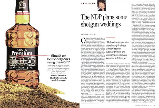 Article Preview: The NDP plans some shotgun weddings, December 1992 | Maclean's