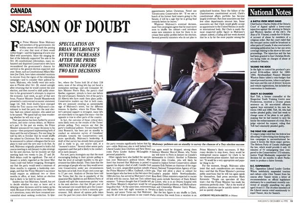 Article Preview: SEASON OF DOUBT, December 1992 | Maclean's