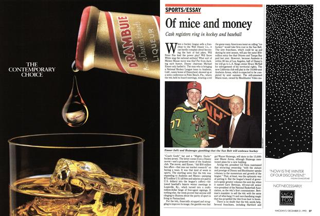 Article Preview: Of mice and money, December 1992 | Maclean's