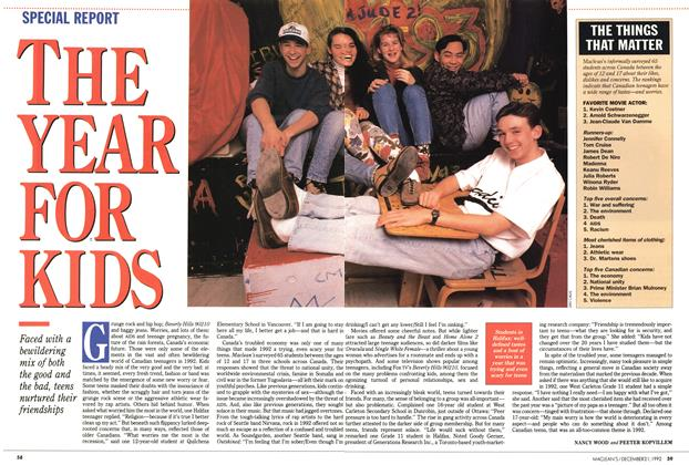 Article Preview: THE YEAR FOR KIDS, December 1992 | Maclean's