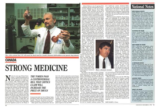 Article Preview: STRONG MEDICINE, December 1992 | Maclean's