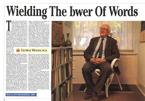 Article Preview: Wielding The Power Of Words, December 1992 | Maclean's