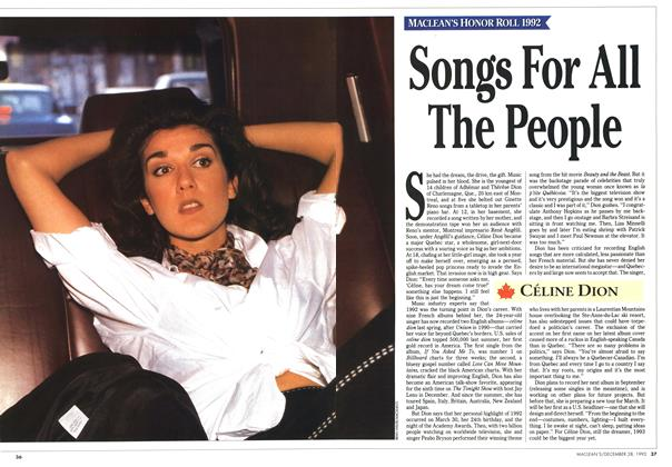 Article Preview: Songs For All The People, December 1992 | Maclean's