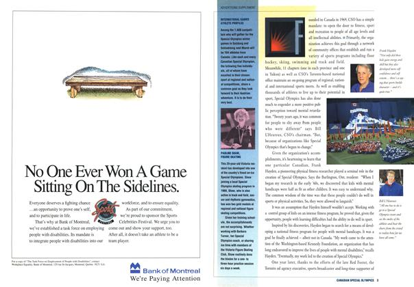 Article Preview: INTERNATIONAL GAMES ATHLETE PROFILES, December 1992 | Maclean's