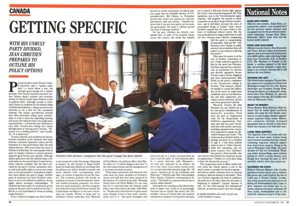 Article Preview: GETTING SPECIFIC, December 1992 | Maclean's