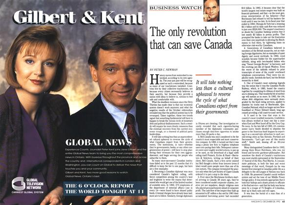 Article Preview: The only revolution that can save Canada, December 1992 | Maclean's