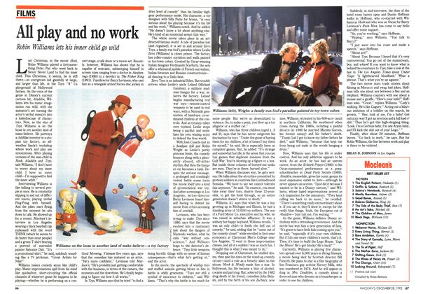Article Preview: All play and no work, December 1992 | Maclean's