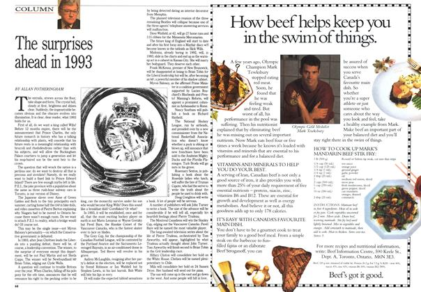 Article Preview: The surprises ahead in 1993, December 1992 | Maclean's