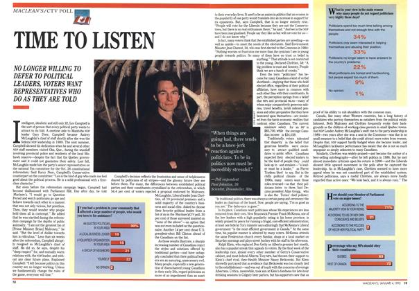 Article Preview: TIME TO LISTEN, January 1993 | Maclean's