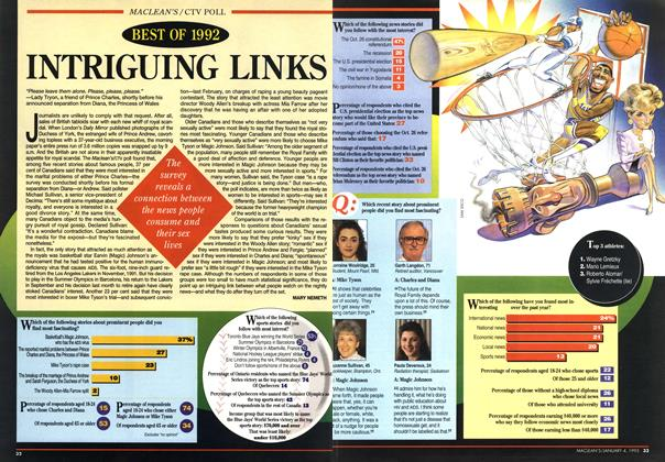 Article Preview: INTRIGUING LINKS, January 1993 | Maclean's