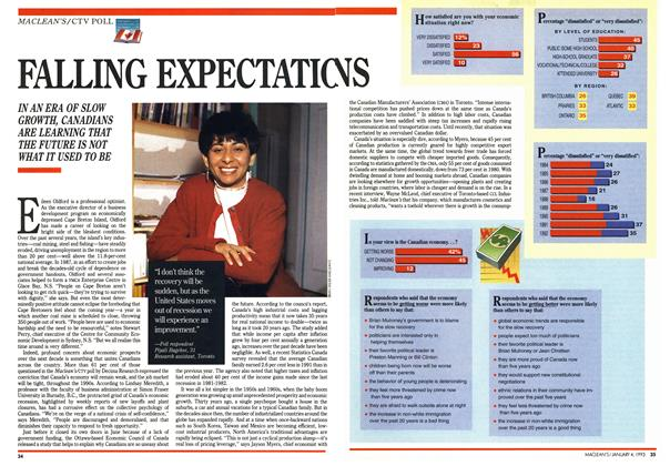 Article Preview: FALLING EXPECTATIONS, January 1993 | Maclean's