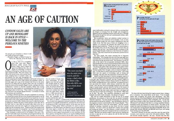 Article Preview: AN AGE OF CAUTION, January 1993 | Maclean's