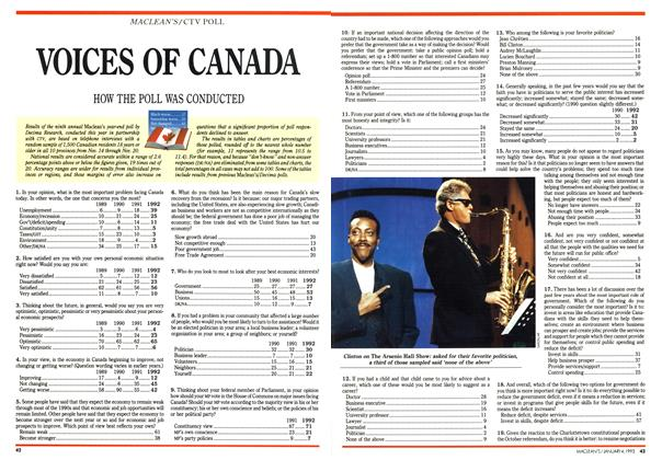 Article Preview: VOICES OF CANADA, January 1993 | Maclean's