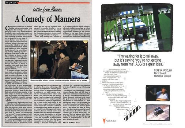 Article Preview: A Comedy of Manners, January 1993 | Maclean's