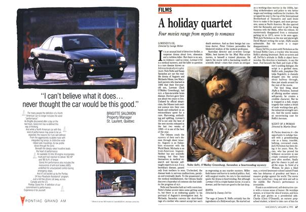 Article Preview: A holiday quartet, January 1993 | Maclean's