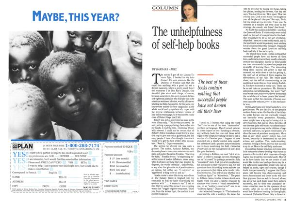 Article Preview: The unhelpfulness of self-help books, January 1993 | Maclean's