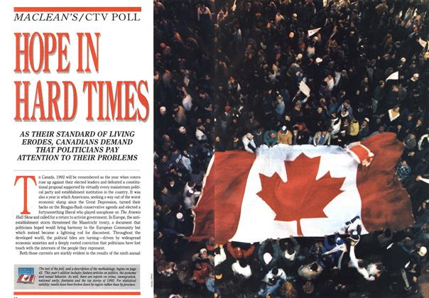 Article Preview: HOPE IN HARD TIMES, January 1993 | Maclean's