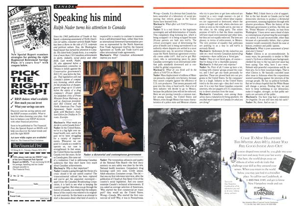 Article Preview: Speaking his mind, January 1993 | Maclean's