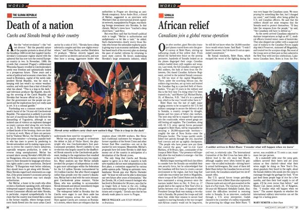 Article Preview: Death of a nation, January 1993 | Maclean's