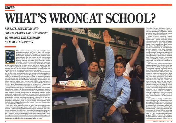 Article Preview: WHAT'S WRONG AT SCHOOL?, January 1993 | Maclean's