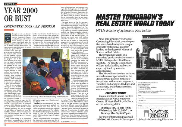 Article Preview: YEAR 2000 OR BUST, January 1993 | Maclean's