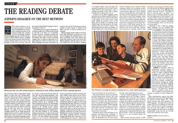 Article Preview: THE READING DEBATE, January 1993 | Maclean's